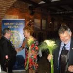 Życzenia dalszych sukcesów w służbie rotariańskiej przekazała nam osobiście Pani Prezydent żeńskiego Klubu Kivanis International
